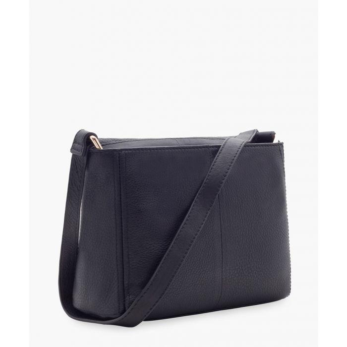 Image for Weekender black leather shopper