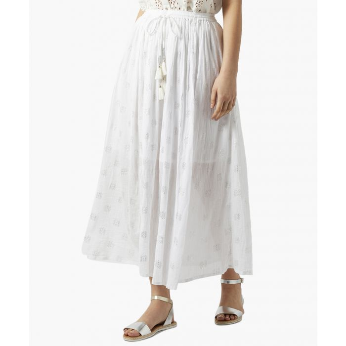 Image for Sabrina white sheer midi skirt