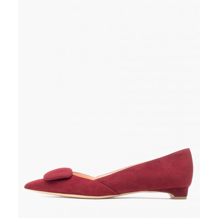 Image for New Aga pomegranate suede shoes
