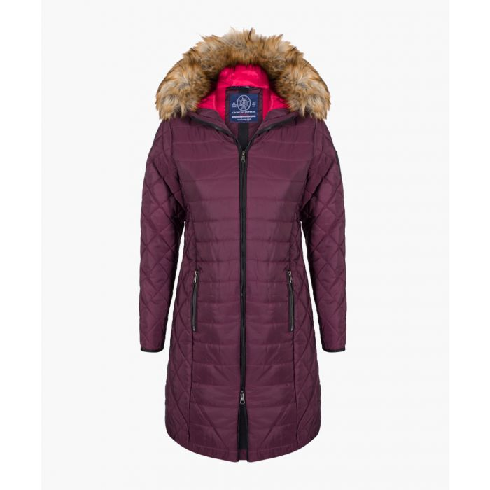 Image for Bordeaux textured hooded coat