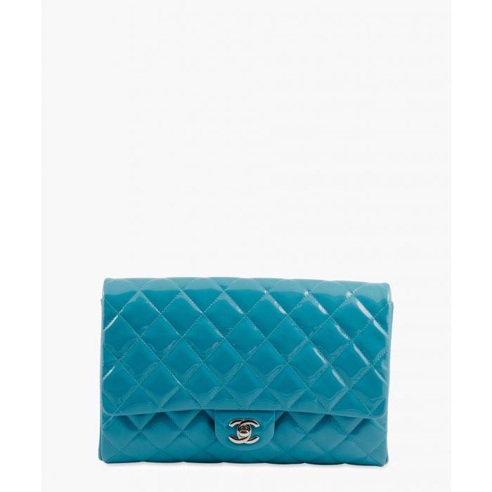 Image for Vintage Mademoiselle turquoise baguette bag