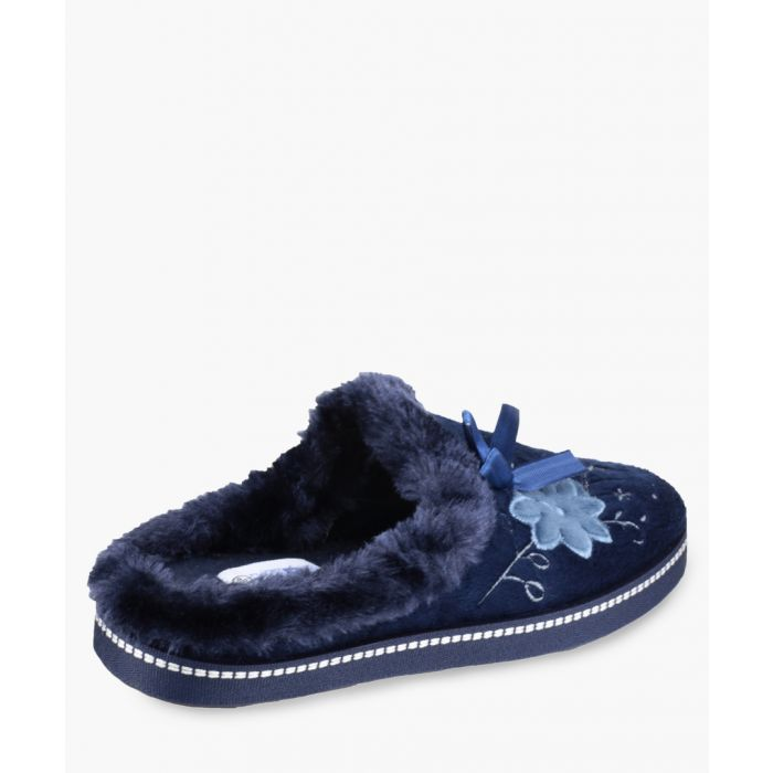 Image for Womens navy slippers