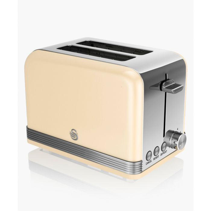 Image for Cream retro 2-slice toaster