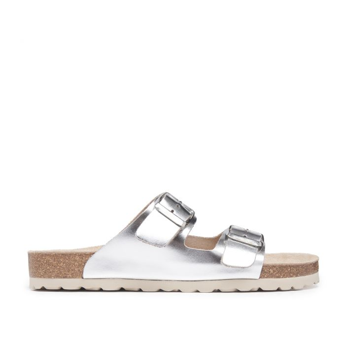 Image for Bio Sandals for Women Silver Shoes Maria Barcelo