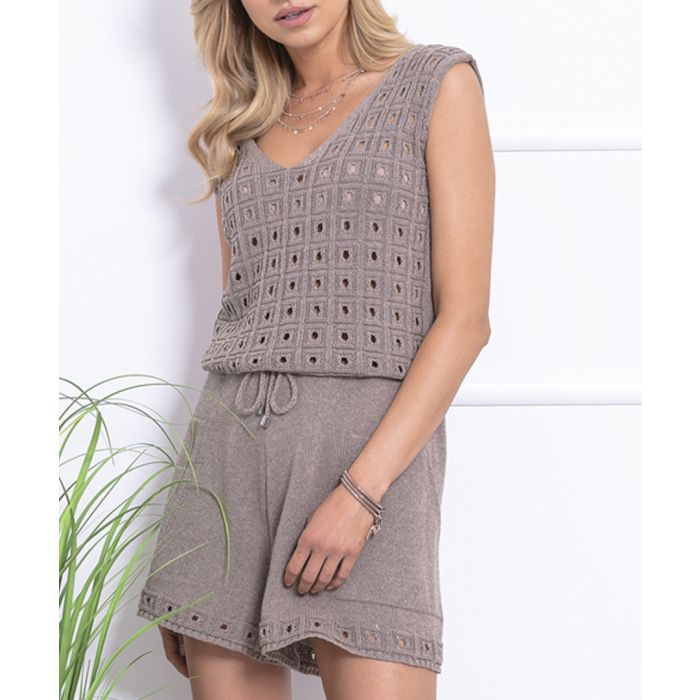 Image for Mocca knitted cotton blend jumpsuit