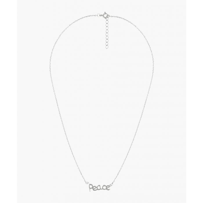 Image for Andrea Bellini Peace silver-plated necklace