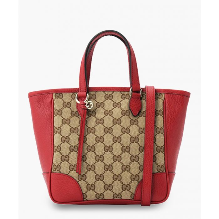 Image for Bree GG canvas and red leather small tote