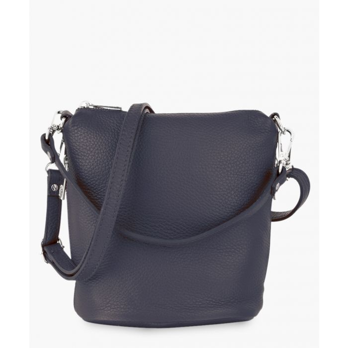 Image for Navy blue leather crossbody