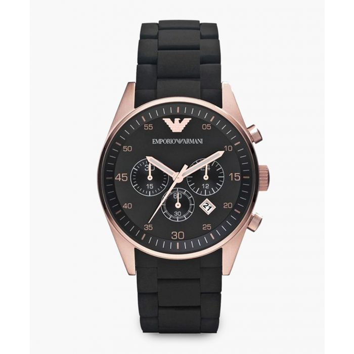 Image for Black and rose gold-tone watch