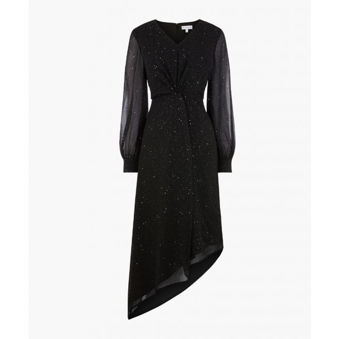 Image for Black glitter midi dress
