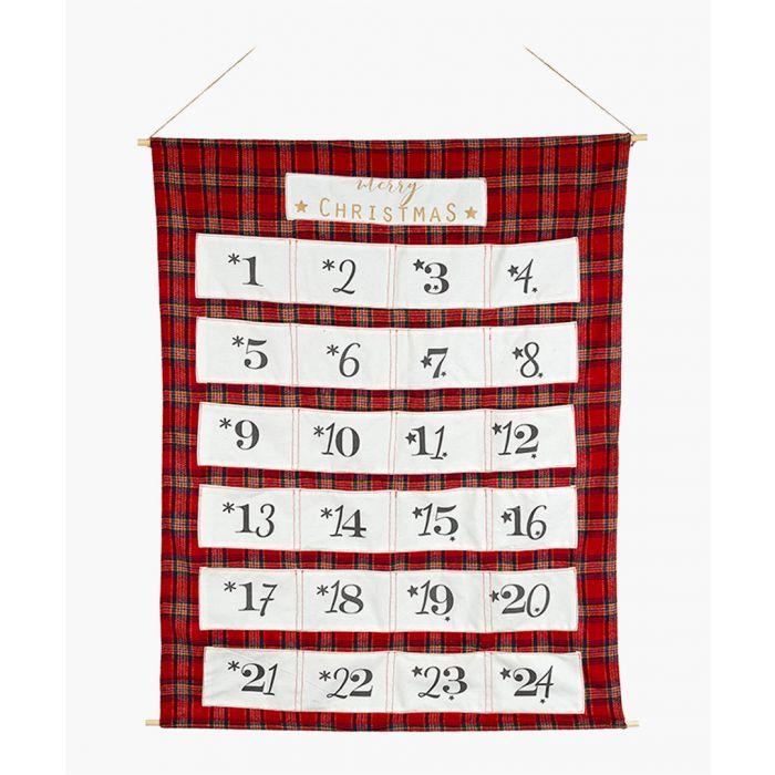 Image for Red tartan advent calendar