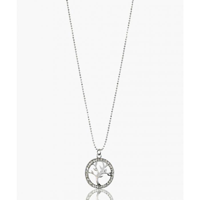 Image for Framed Baobab silver-plated crystal pendant