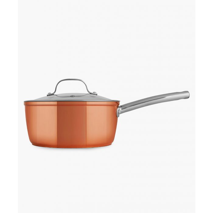 Image for 3pc Copper-tone forged saucepans