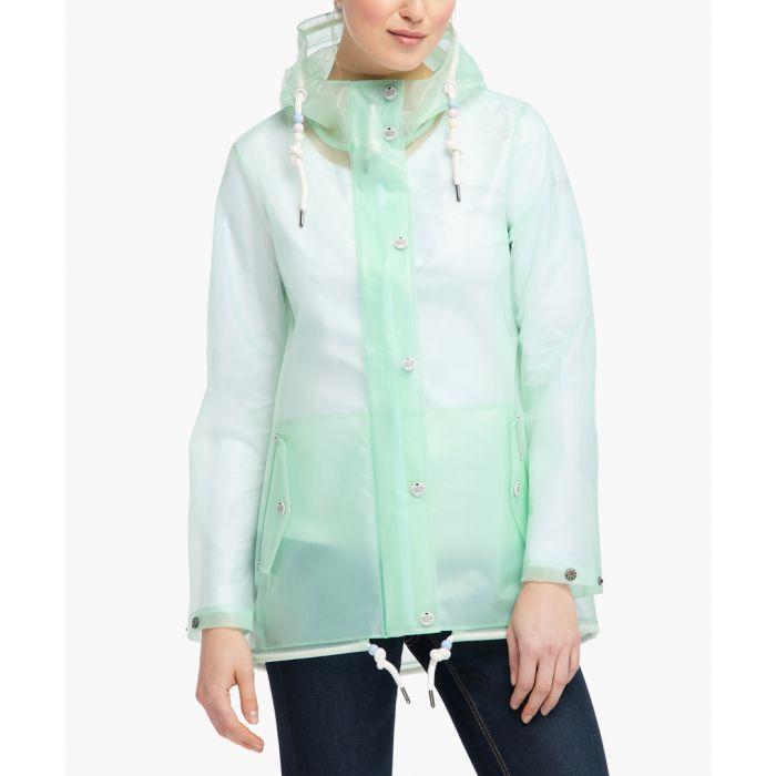 Image for Pastel mint raincoat