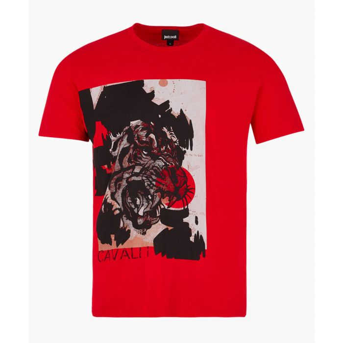 Image for Red cotton tiger print T-shirt