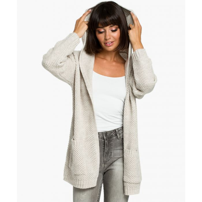 Image for Beige wool blend cardigan
