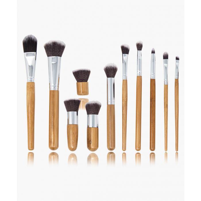 Image for 12pc Bamboo makeup brush set