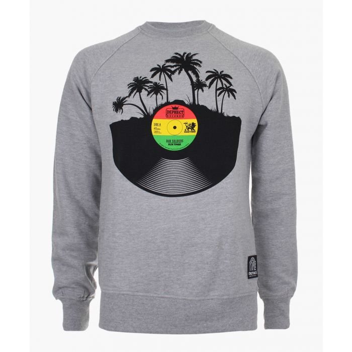 Image for Grey graphic crew neck sweater