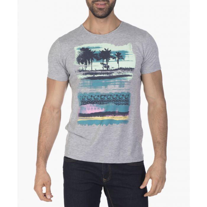 Image for Grey melange cotton T-shirt