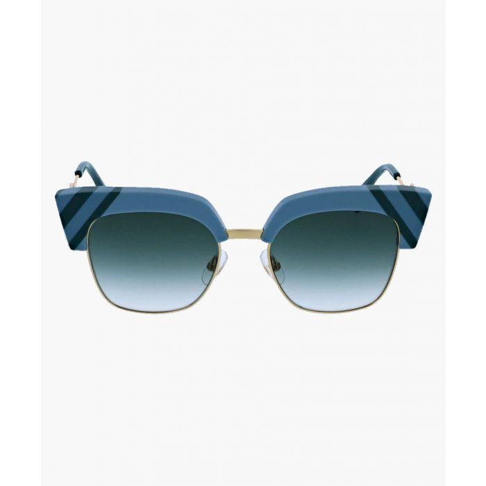 Image for Fendi SUNGLASSES Light Blue Green / Grey Shaded