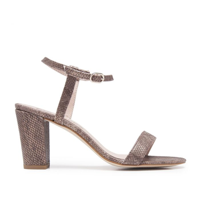 Image for Leather Sandals Heel for Women Heeled  Shoes Eva Lopez
