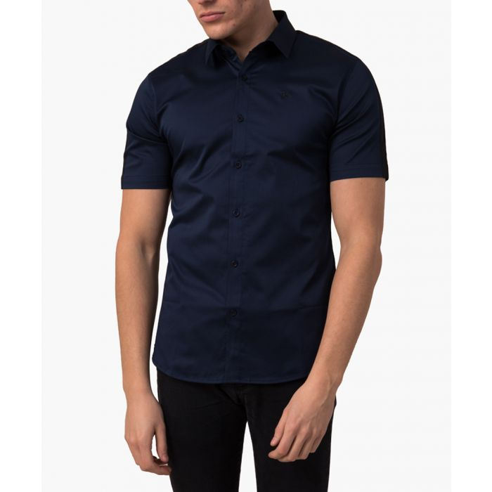 Image for slim fit crop sleeved shirt