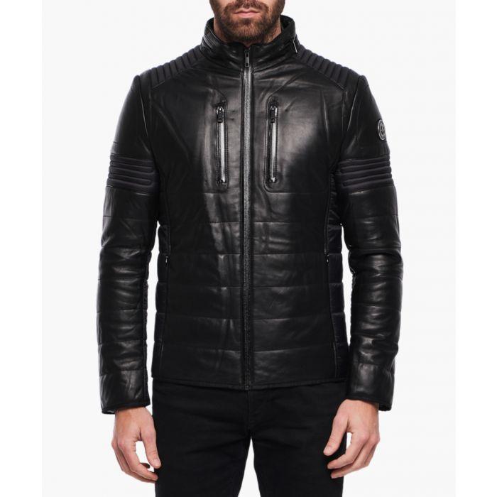 Image for Christian black lambskin jacket
