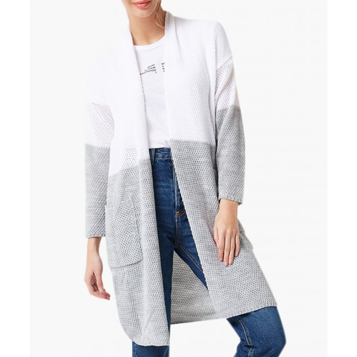 Image for White and grey loose cut cardigan