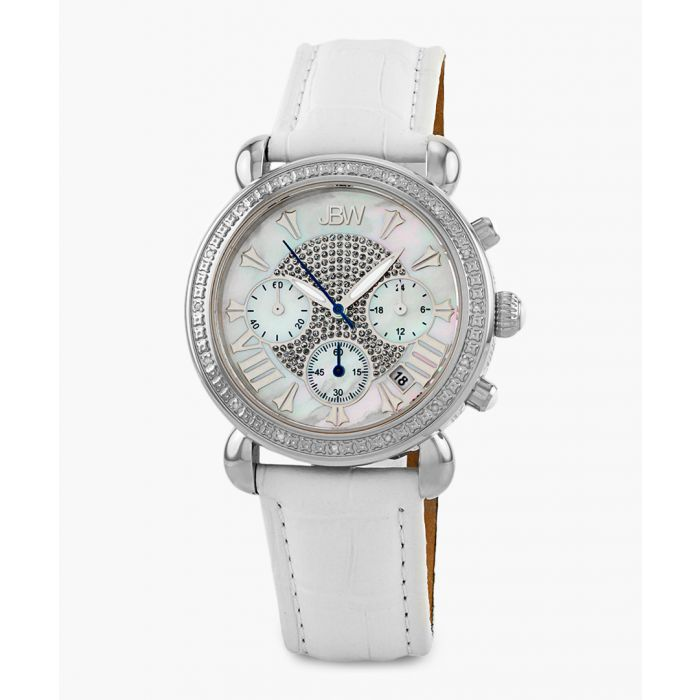 Image for Victory white leather watch