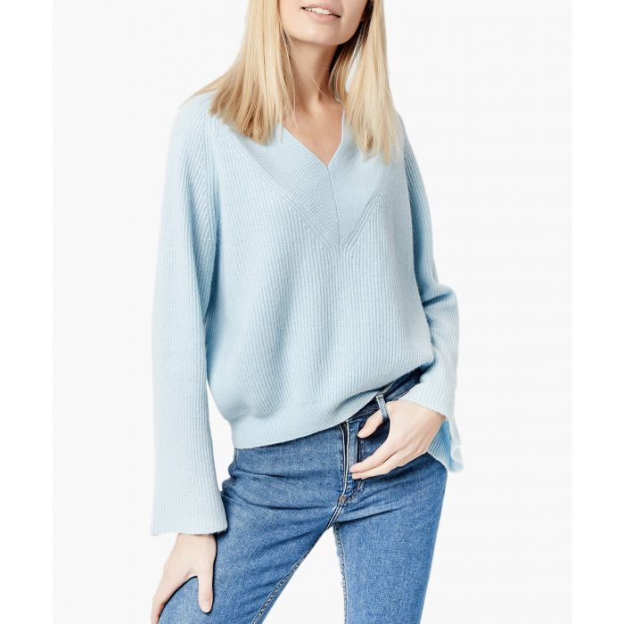 Image for Light blue pure cashmere jumper