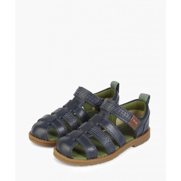 Image for Kids' Orin blue leather sandals