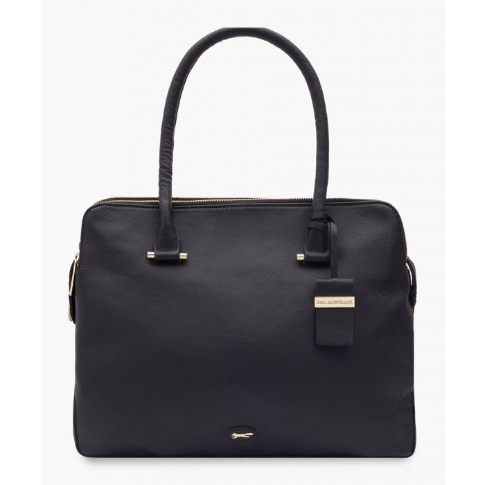 Image for Barbell leather shopper