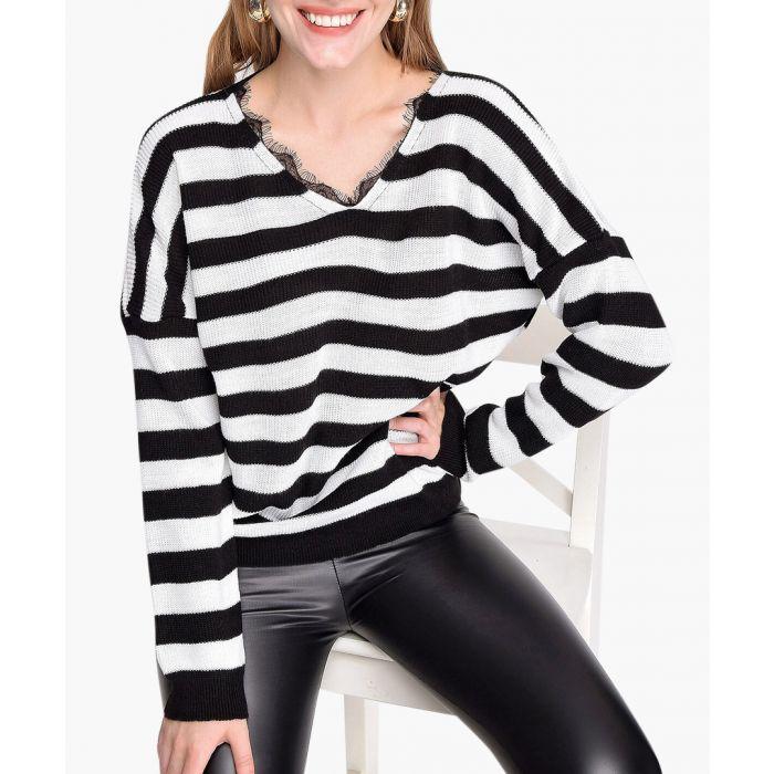 Image for Stripe cotton blend jumper