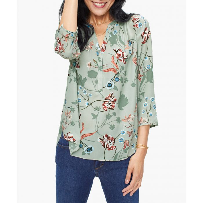 Image for Perfect sierra poppy prickly pear blouse