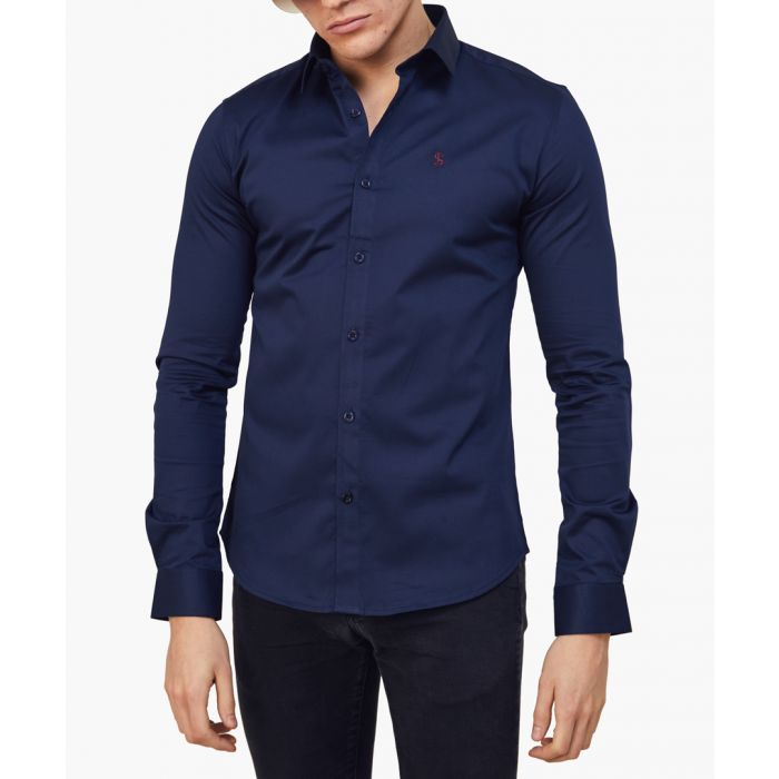 Image for Blue logo skinny fit shirt