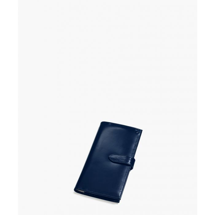 Image for Navy blue leather clasp purse