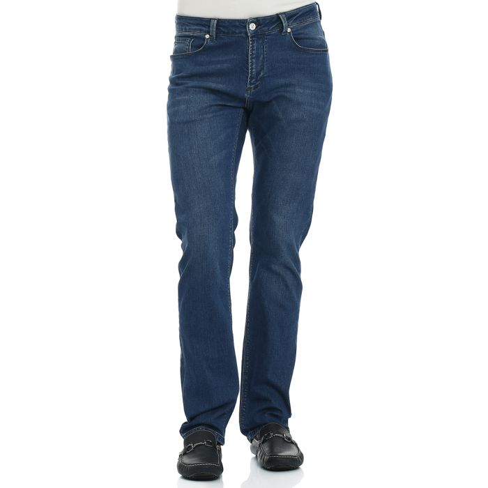Image for Buckland navy cotton blend jeans