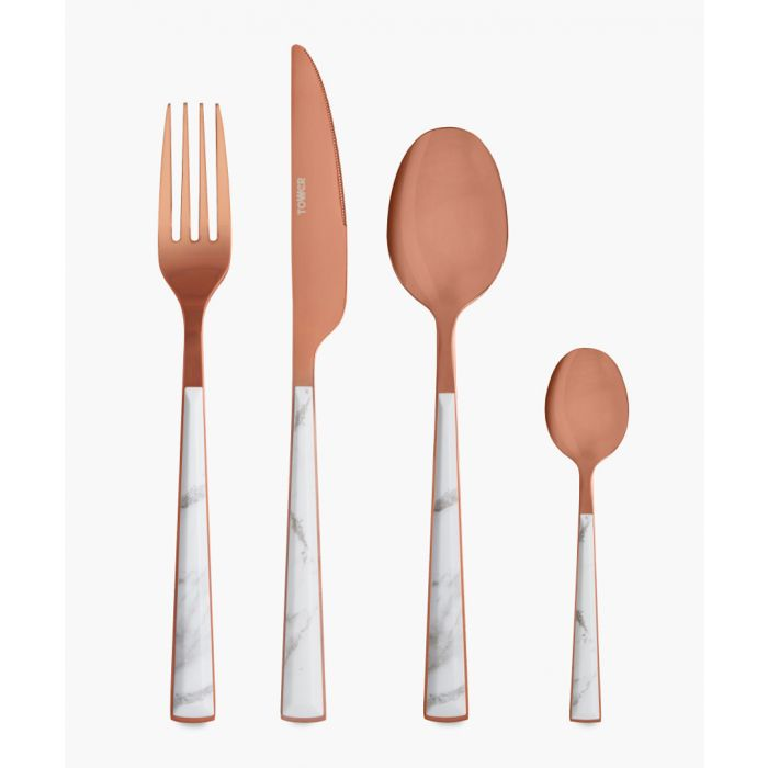 Image for 16pc Copper-tone stainless steel cutlery