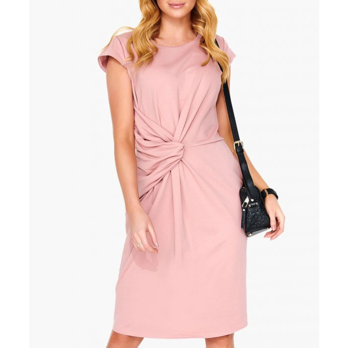 Image for Dirty pink cotton blend dress