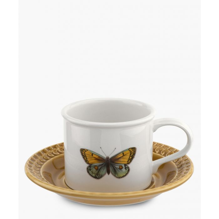 Image for 2pc Botanic Garden Harmony breakfast amber cup and saucer
