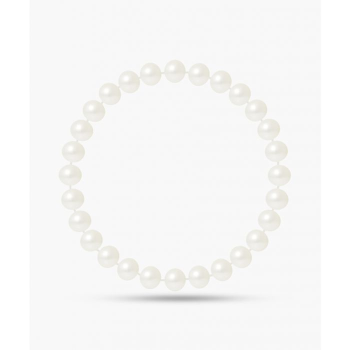 Image for Natural white freshwater pearl lucky charm bracelet