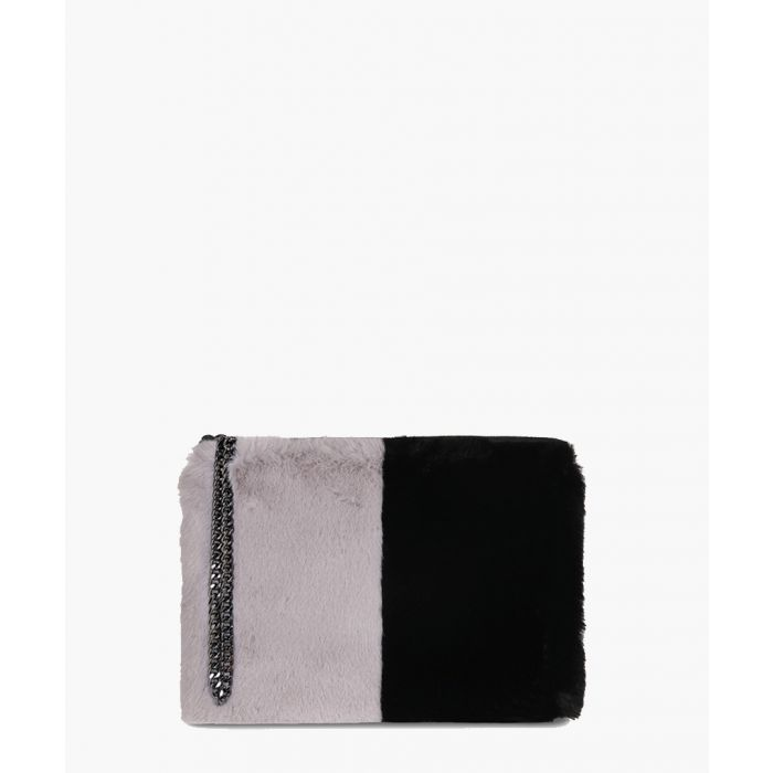Image for Stephanie The Kempton Collection grey and black clutch