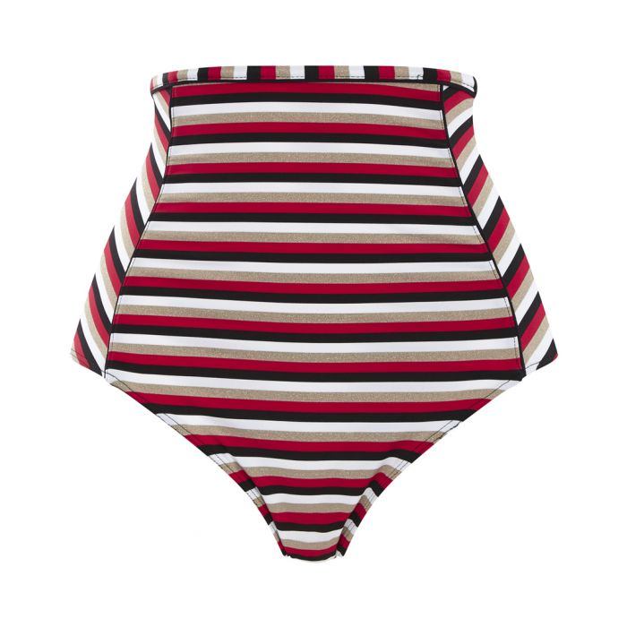 Image for Disco striped hi-rise bikini briefs