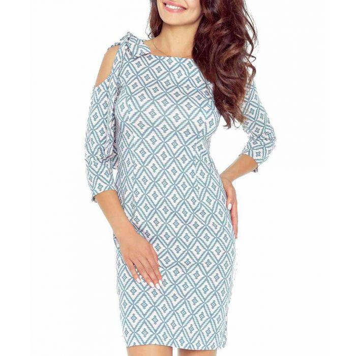 Image for Multi-colour shoulder cut-out dress