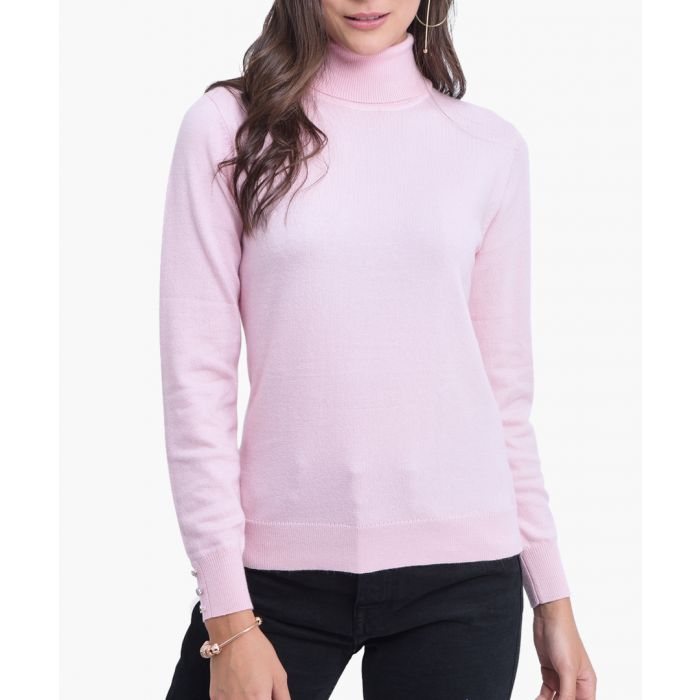 Image for Pink cashmere blend jumper