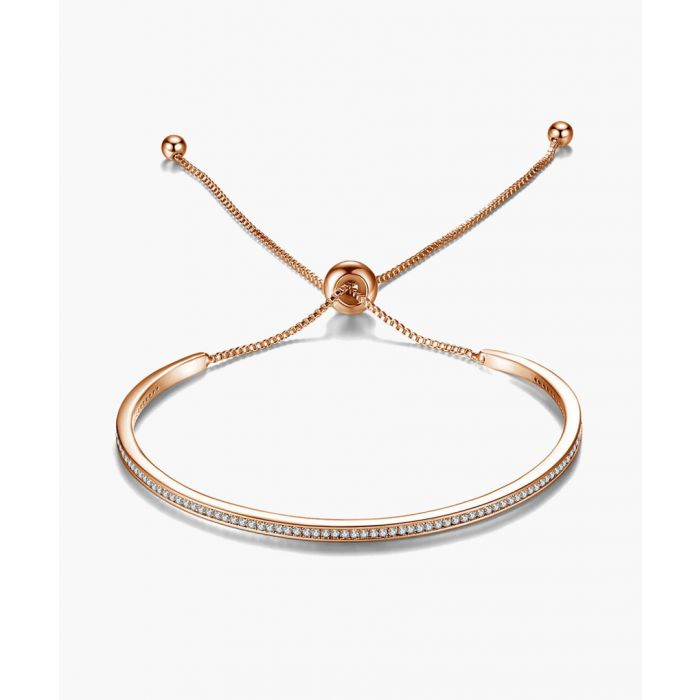Image for Rose gold-tone Swarovski crystal friendship bracelet