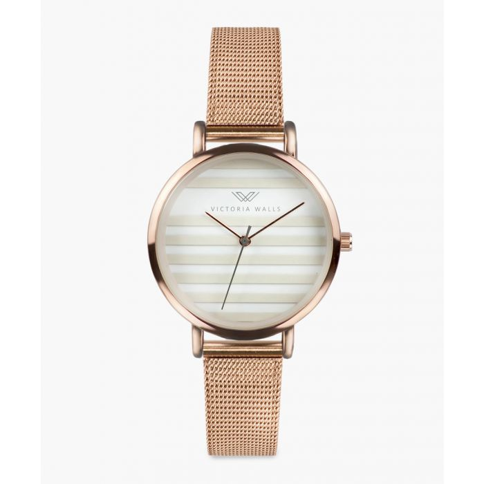 Image for Zoe rose gold-plated analogue watch