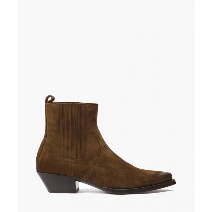 Image for Cowboy brown suede ankle boots