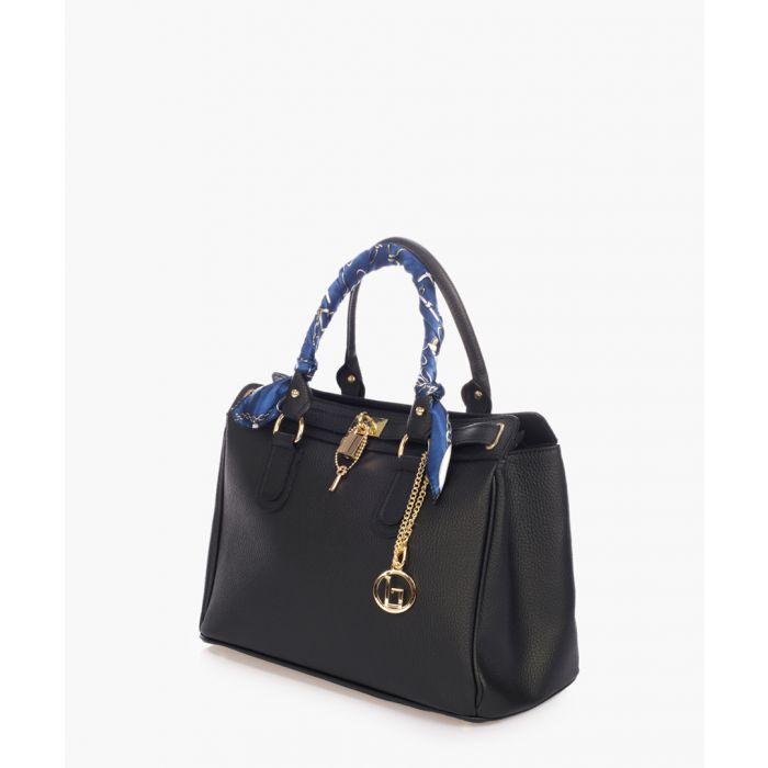 Image for Nure Sorella black leather grab bag