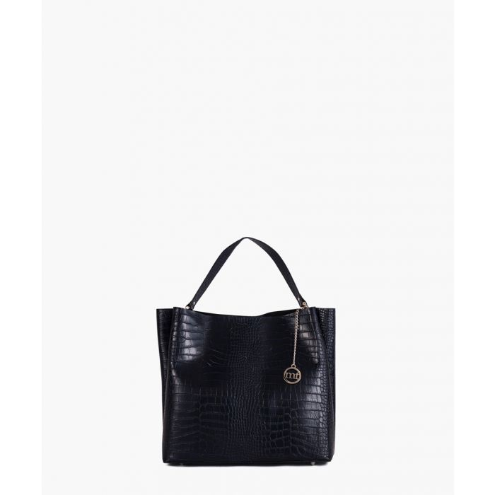 Image for Latisana dark blue leather shopper